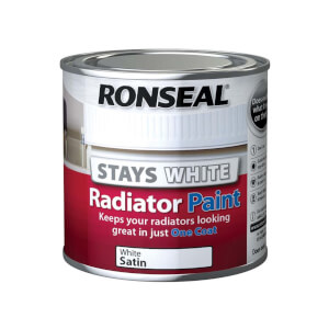 Ronseal Stays White Radiator Paint Satin - 250ml