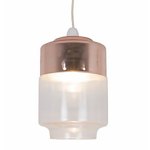 Johnson Easy Fit Pendant Light Shade - Copper and Glass