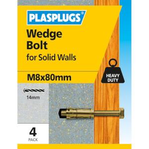 Wedge Bolt M8 X 80mm 4 Pk