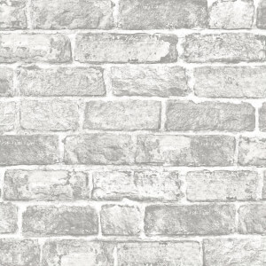 Fresco White Brick Wall Wallpaper