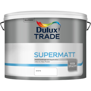 Dulux Trade Supermatt Paint White - 10L