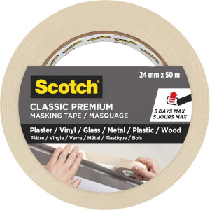 Scotch® Premium Classic Masking Tape, 24mm x 50m