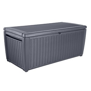 Keter Sumatra Rattan Effect Garden Storage Box - Grey / 511L