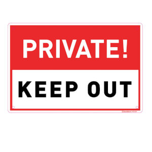 Medium Private Keep Out Sign - 300 x 200mm