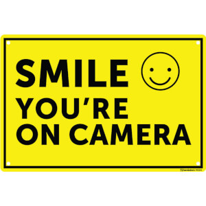 Medium Smile on Camera Sign - 300 x 200mm