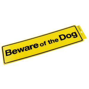 Self Adhesive Beware Of The Dog Sign - 330 x 95mm