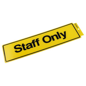 Self Adhesive Staff Only Sign - 330 x 95mm