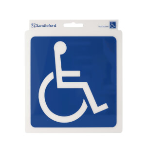 Self Adhesive Disabled Symbol Sign - 152 x 152mm