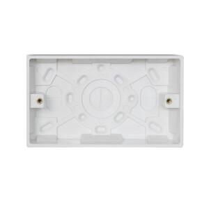 Arlec 2 Gang Pattress Box 35mm White
