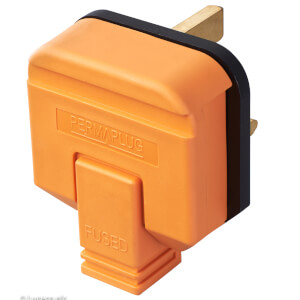 Masterplug 13A Heavy Duty Rewirable Plug Socket Orange
