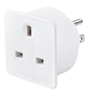 Masterplug UK to US Travel Adaptor White