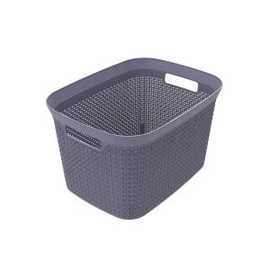Ezy Storage Mode 25L Open Basket - Lilac