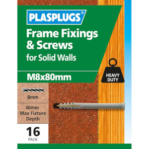 Plasplugs Frame Fixings M8 x 80mm x 16