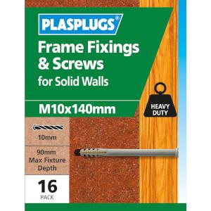 Plasplugs Frame Fixings M10 x 135mm x 16