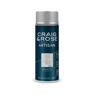 Craig & Rose Artisan Granite Spray Paint - Light Grey - 400ml
