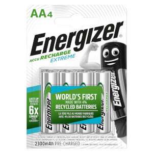 Energizer Extreme 2300mAh Rechargeable AA Batteries - 4 Pack