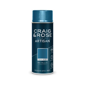 Craig & Rose Artisan Metallic Effect Spray Paint - Dark Blue - 400ml