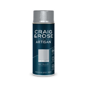 Craig & Rose Artisan Metallic Effect Spray Paint - Silver - 400ml