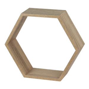 Hexagon Wall Shelf - Sanoma Oak