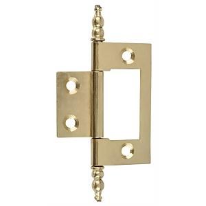 Hafele Finial Flush Hinge - Electro Brass - 50 x 36mm - 2 Pack