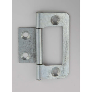 Hafele Flush Hinge - Bright Zinc Plated - 50 x 24mm - 2 Pack