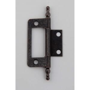 Hafele Finial Flush Hinge - Bronze - 80 x 20mm - 2 Pack