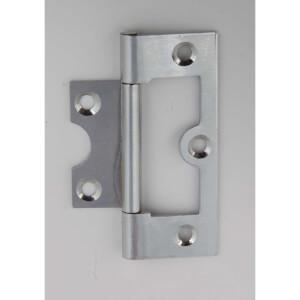 Hafele Flush Hinge - Chrome Plated - 63 x 26mm - 2 Pack
