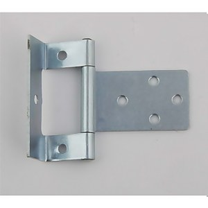 Hafele Cranked Flush Hinge - Bright Zinc Plated - 50 x 40mm - 2 Pack