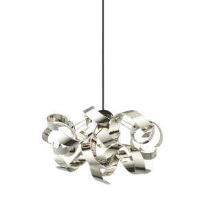 Sputnik Ribbon Easy Fit Pendant Light Shade - Chrome
