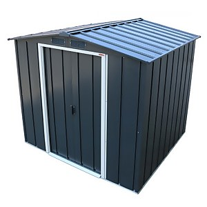 6x6ft Sapphire Apex Metal Shed Anthracite