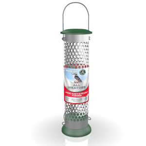 Peckish All Weather Suet and Peanut Metal Bird Feeder - Large