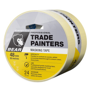 Bear 48mm x 50m Trade Painters Masking Tape