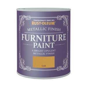 Rust-Oleum Metallic Furniture Paint - Gold - 125ml