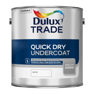 Dulux Trade Undercoat White Quick Dry Paint - 2.5L