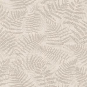 Grandeco Metallic Fern Taupe Wallpaper
