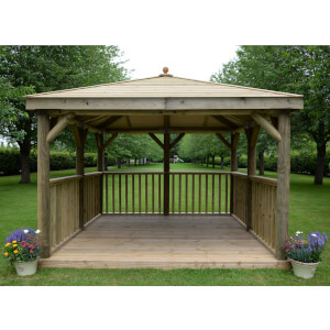 Forest (Installation Included) Timber Roof Square Gazebo - 3.5m