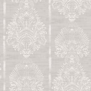 Arthouse Silk Road Damask Embossed Chalk Grey Wallpaper