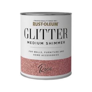 Rust-Oleum Medium Shimmer Rose Glitter - 250ml