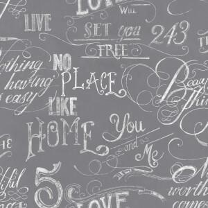 Fresco Chalkboard Wallpaper - Grey