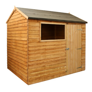 Mercia 8x6ft Overlap Reverse Apex Shed