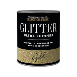 Rust-Oleum Ultra Shimmer Gold Glitter - 750ml