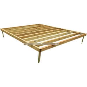 Mercia 10x8ft Pressure Treated Wooden Shed Base - Installation Included