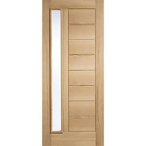 Goodwood External Glazed Unfinished Oak 1 Lite Door - 762 x 1981mm