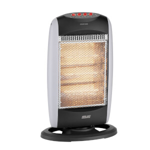 1200w 49cm Compact Halogen Tower Heater Grey