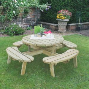 Forest Garden Circular Picnic Table