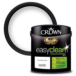 Crown Easyclean 200 Pure Brilliant White Matt Paint - 2.5L