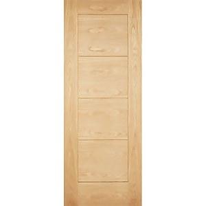 Modica External Unfinished Oak Part L Compliant Door - 838 x 1981mm