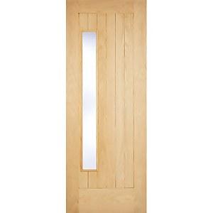 Newbury External Glazed Unfinished Oak 1 Lite Part L Compliant Door - 915 x 2135mm