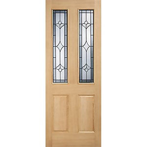 Salisbury External Glazed Unfinished Oak 2 Lite Part L Compliant Door - 813 x 2032mm