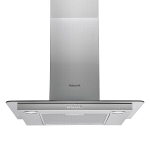 Hotpoint PHFG6.5FABX Flat Chimney Cooker Hood - 60cm - Stainless Steel